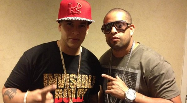 Photo of Daddy Yankee & his friend musician  Julio Voltio - Talento de Barrio