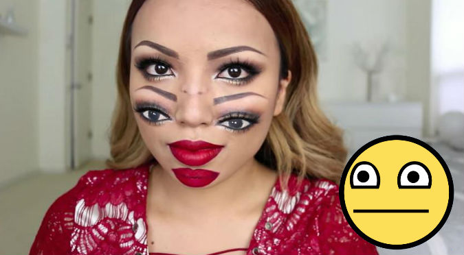 Videos De Maquillaje De Halloween.Wtf Con Este Extrano Maquillaje Seras La Sensacion En Halloween