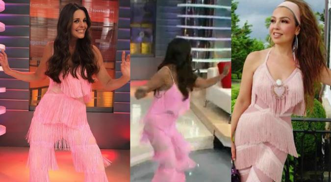 Rebeca Escribens Usó Vestido De Thalía Para Hacer Reto Viral En Vivo Video
