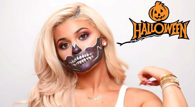 Videos De Maquillaje De Halloween.Halloween Kylie Jenner Muestra Maquillaje Facil Para Noche De